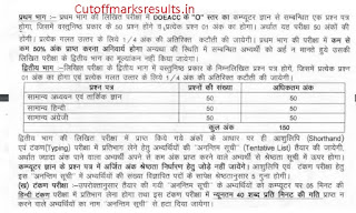 uppcl stenographer office assistant exam pattern