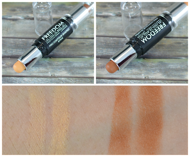 Freedom Make Up pro contour shaped stick medium 02 Swatches