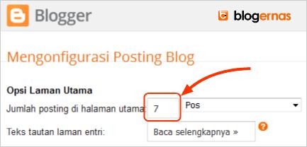 Cara Mengatur Jumlah Postingan Tampil di Home Blog