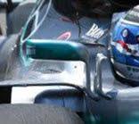 Mercedes W08 - Gli specchietti retrovisori utilizzati fino al Gran Premio di Baku