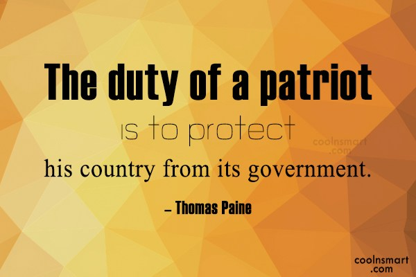 Thomas Paine Quote about Patriotism