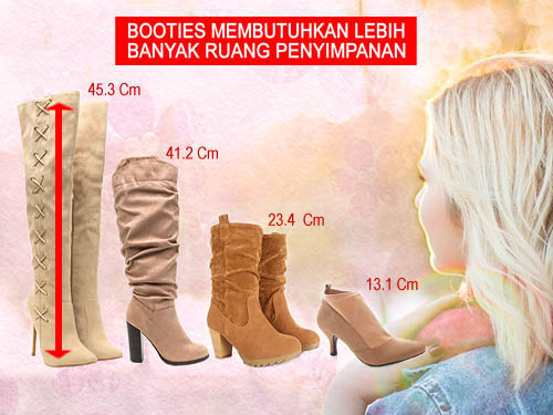 Cara menyimpan sepatu boots