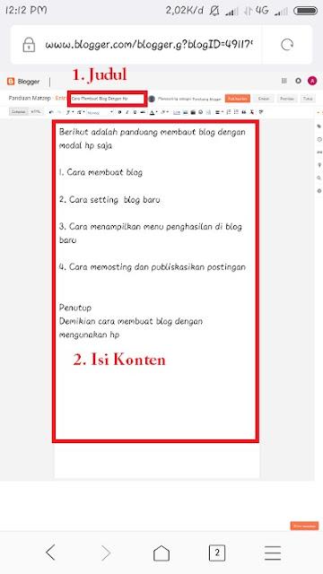 Cara Menulis / Memosting di blog
