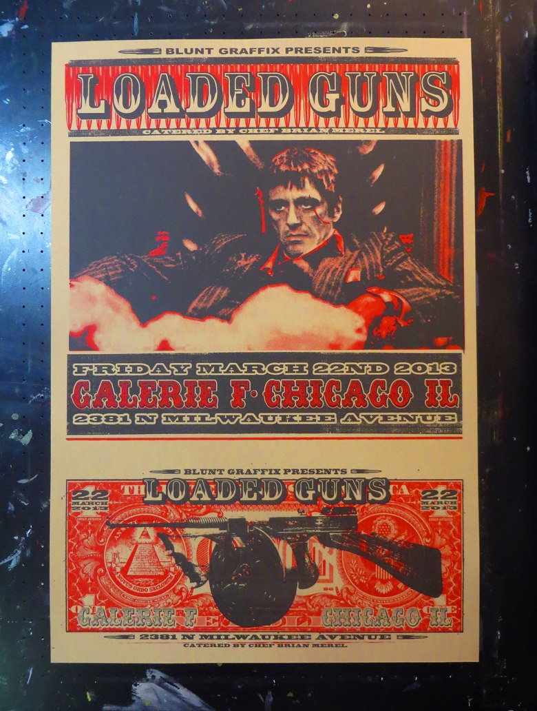 Inside The Rock Poster Frame Blog Loaded Guns Art Show