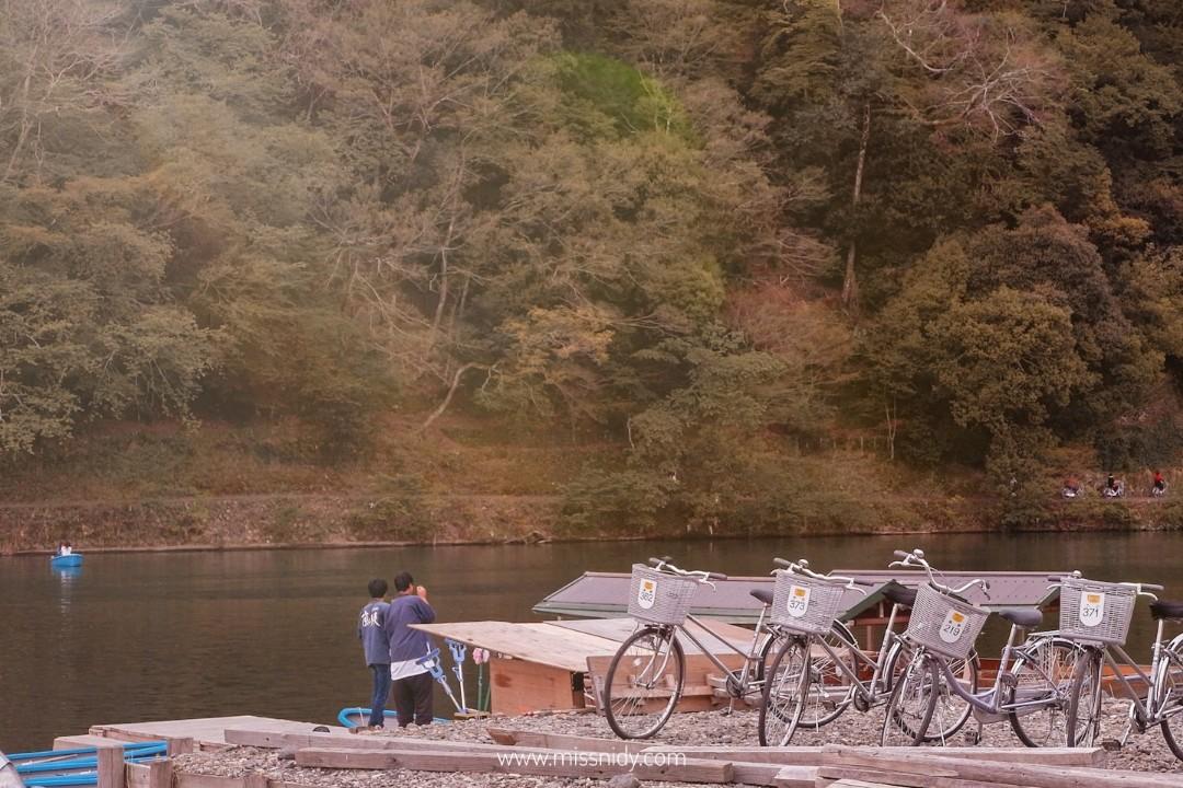 pengalaman sewa sepeda di arashiyama jepang