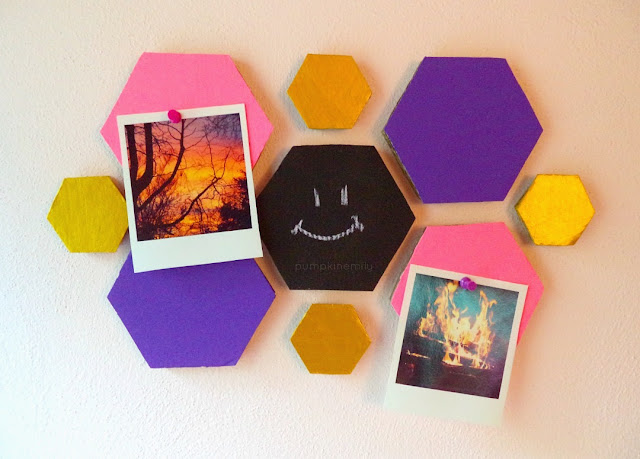 DIY Hexagon Decor Wall Organization & Wall Art