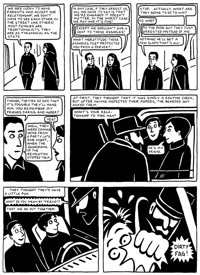 Read Chapter 14 - The Makeup, page 135, from Marjane Satrapi's Persepolis 2 - The Story of a Return