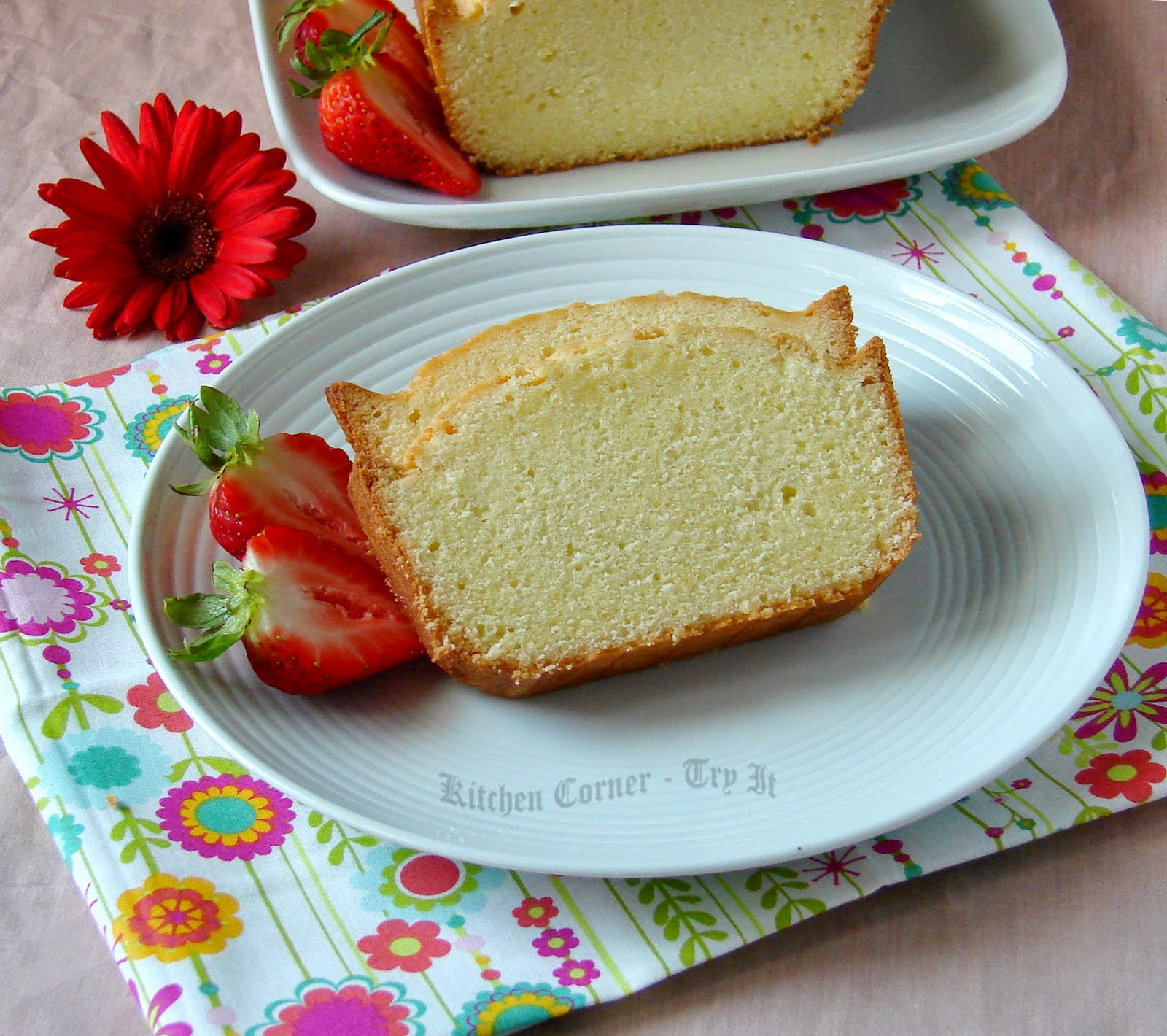 Pound Cake Rose Water Recipes