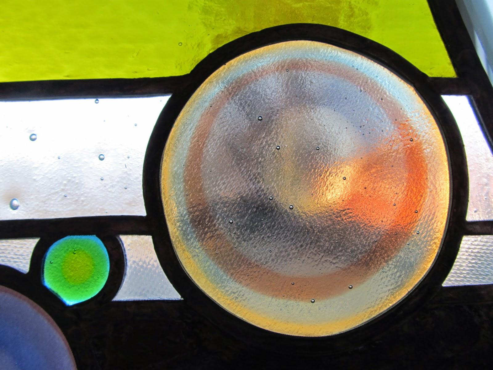vitrážové  zrcadlo prosvícené led