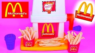 McDonalds Happy Meal Magic FRENCH FRY Maker Playset & Vintage McDonalds Food Toys Popin Cookin
