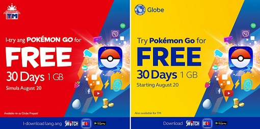 globe tm free pokemon go access