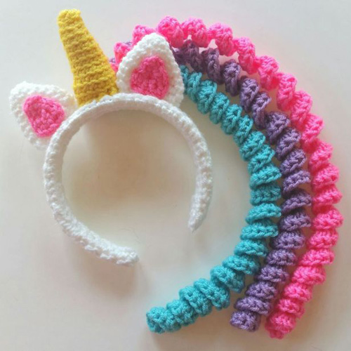 Unicorn Mane Headband - Free Pattern