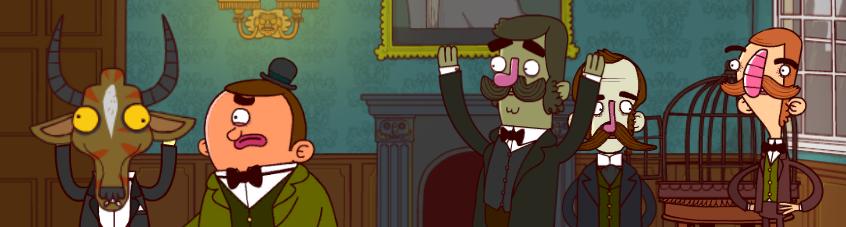 Bertram Fiddle y su compañero Gavin.