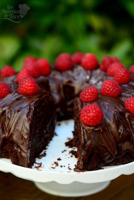 Receta casera de bizcocho doble muerte por chocolate 04