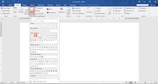 How to insert & edit Shapes in Microsoft Word 2016