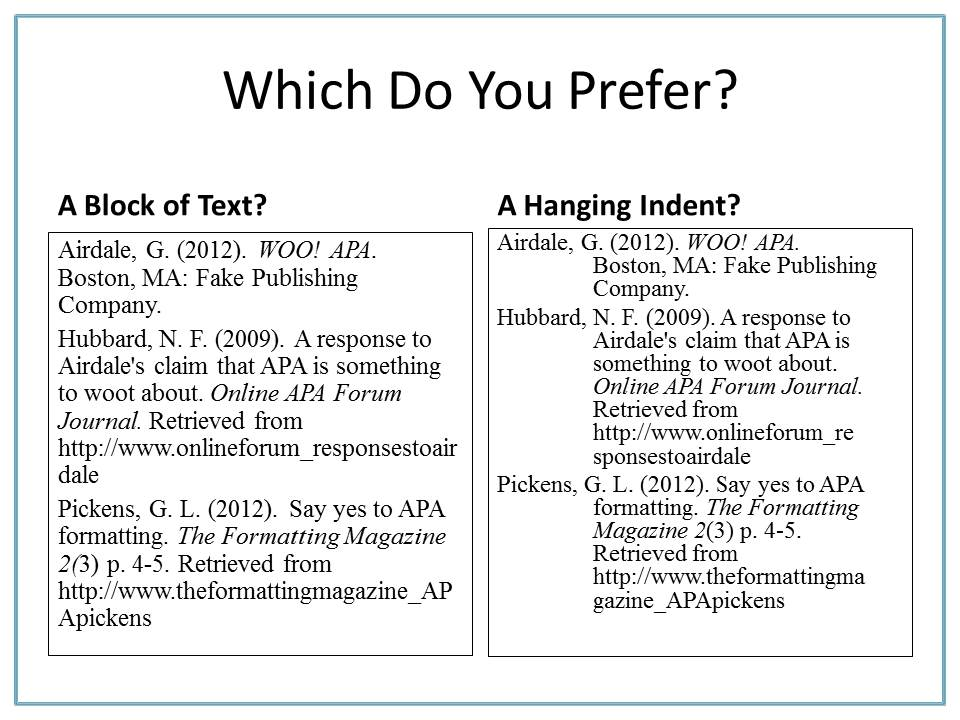 whats is apa format