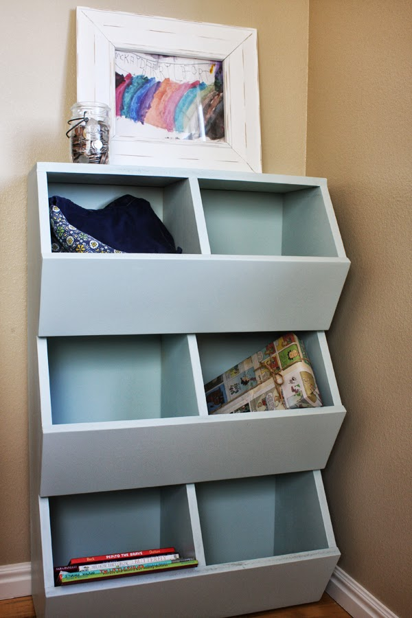 Lost Button Studio 6 Bin Storage Shelves