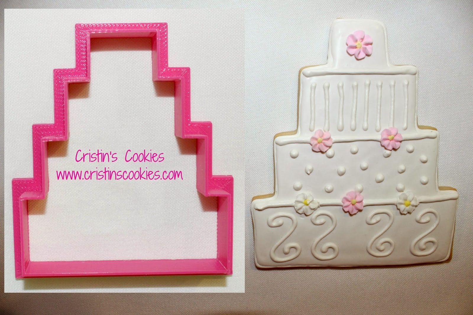 3 tier wedding cake cookie cutter cristin s cookies february 2014 10278