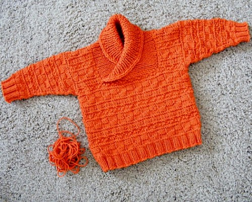 Busy Baby Boy Sweater - Free Pattern
