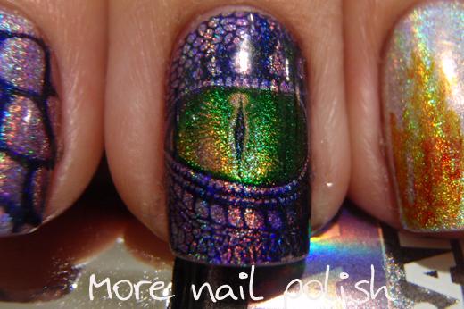 Purple Dragon Nail Art More Nail Polish