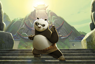 Po in fighting stance Kung Fu Panda 2 movieloversreviews.blogspot.com