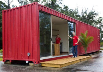 Shipping container homes flagler college st agustine - 40ft shipping container home ...