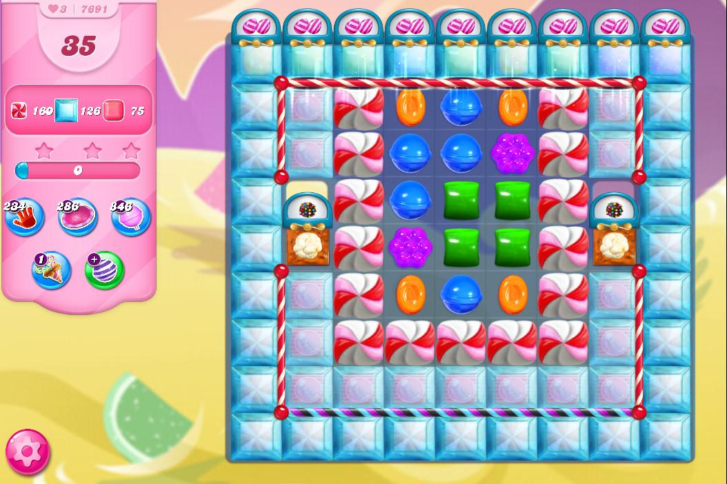 Candy Crush Saga level 7691