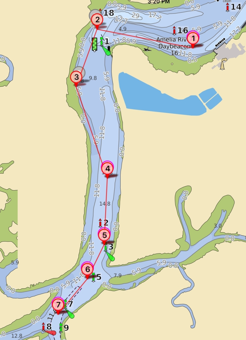 Cruising Down the ICW 2018: Fernandina Shallows GPX routes