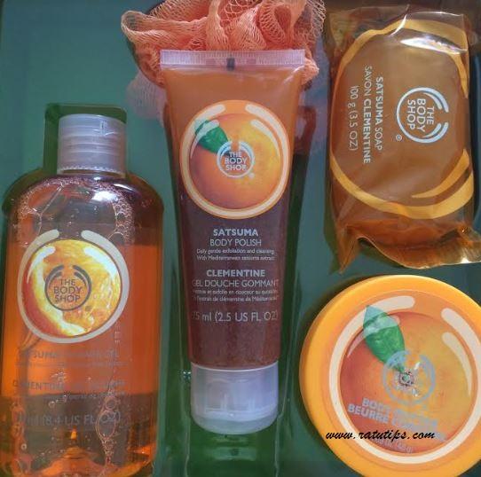 Review Paket Perawatan Tubuh dari The Body Shop Satsuma Orange, Wanginya Tahan Lama!