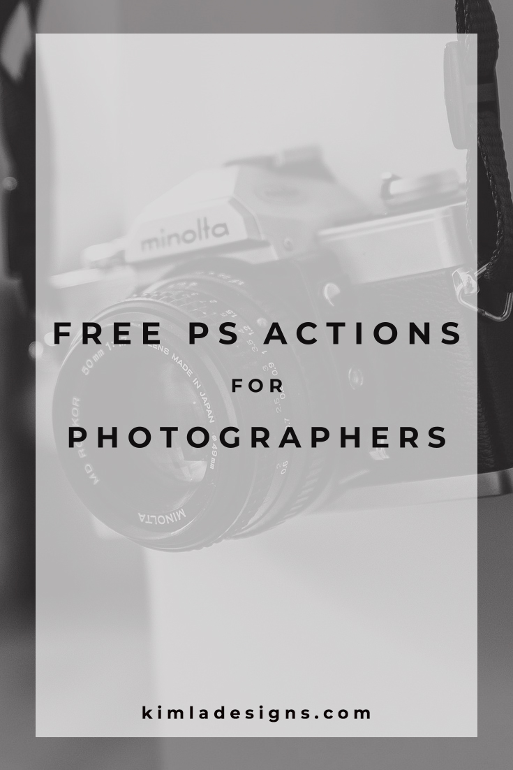Free PS Actions for Photographers