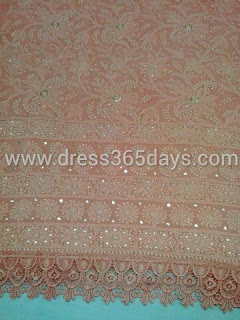 Brown Chocolate Chikankari Kurta Dress Material