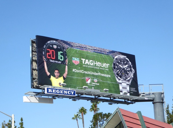 TAG Heuer watches US soccer sponsor billboard