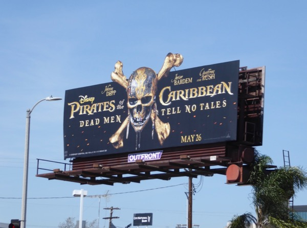 Pirates of the Caribbean Dead Men cut-out billboard