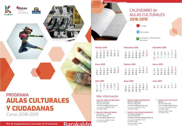 Impreso de los cursos de las casas de cultura