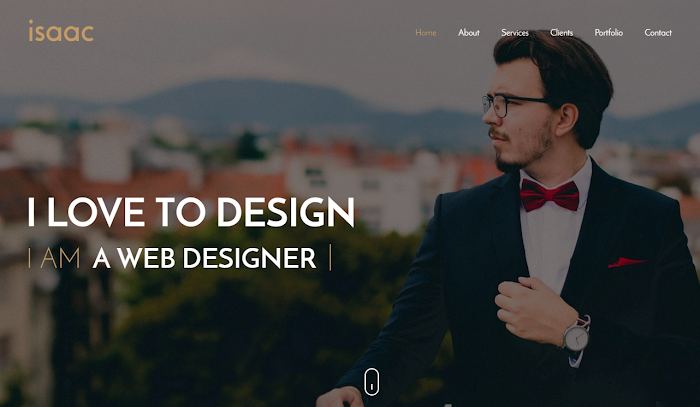 Isaac blogger template free portifolio/Blog