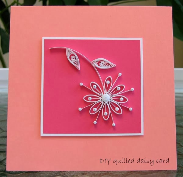 Quilled Retro Daisy Card