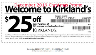 Kirklands coupons december 2016