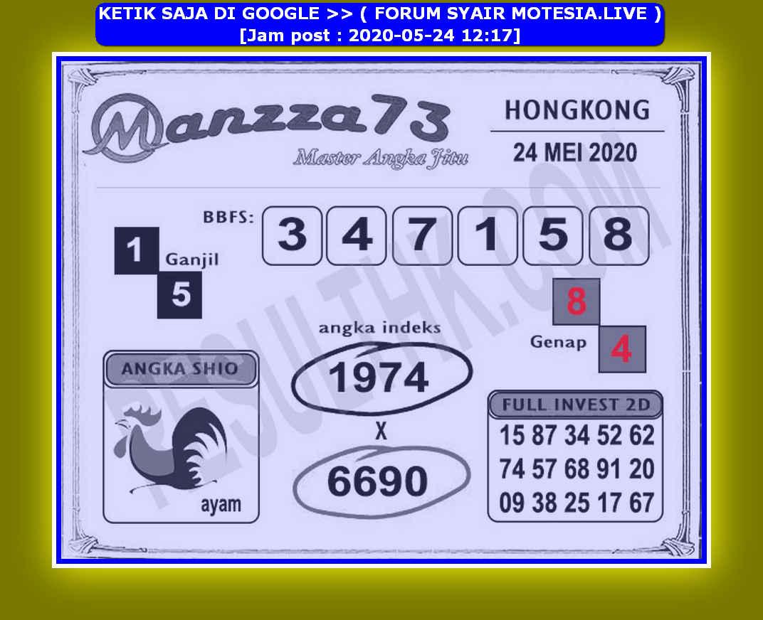 Kode syair Hongkong Minggu 24 Mei 2020 78