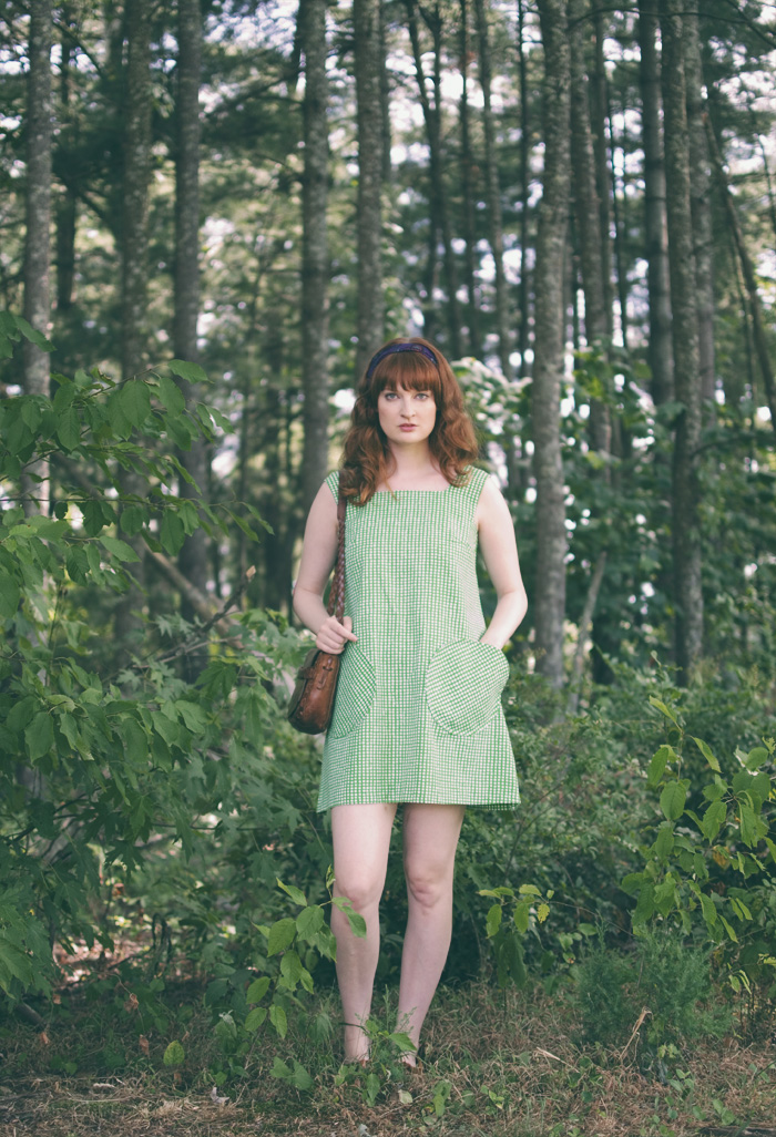 The Flying Clubhouse: Green Mod Tent Dress | summertime outfit