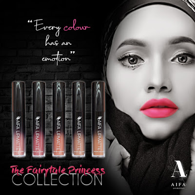 Aifa lipmatte bagi edisi The Fairytale Princess