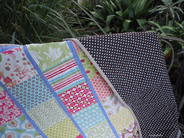 Aopliquéd lap quilt ~ Threading My Way