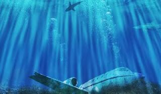 aviões de baixo do mar
