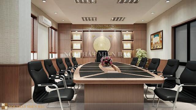 Lựa chọn những gam màu trầm mang đến vẻ đẹp lịch lãm cho các thiết kế phòng họp