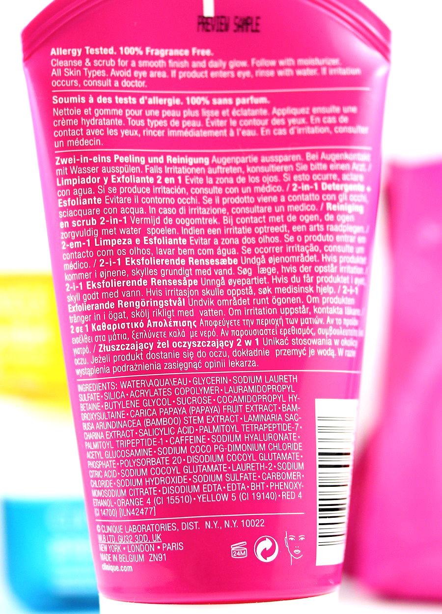 clinique pep start exfoliating cleanser ingredients