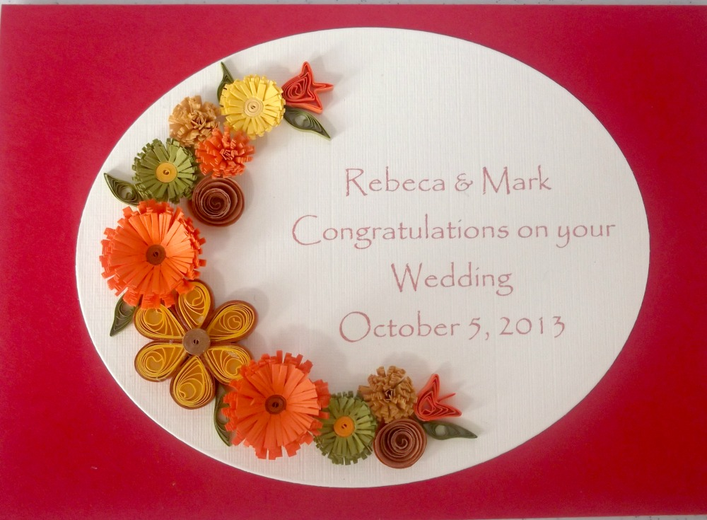 paper daisy cards another quilled wedding card
