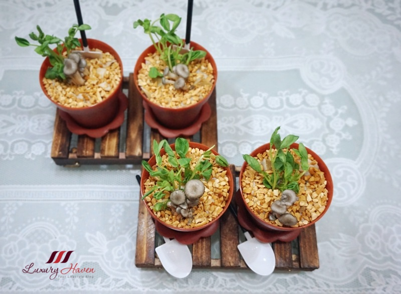 enticing edible flower pot salad with abalone recipe
