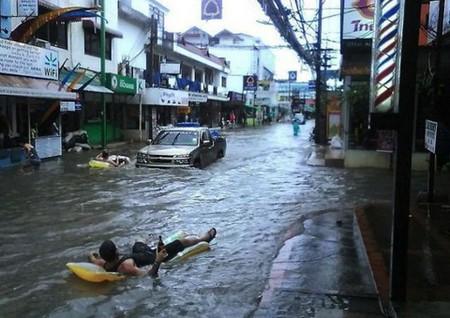 Hình ảnh vui lũ lụt