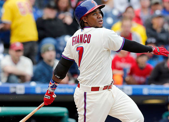 Maikel Franco is swinging a hot bat for the Phillies