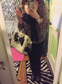 leopard blouse ootd