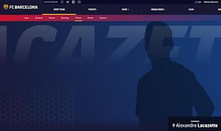 خطأ الكتروني في موقع برشلونة يعلن عن انضمام لاكازيت لصفوف فريق